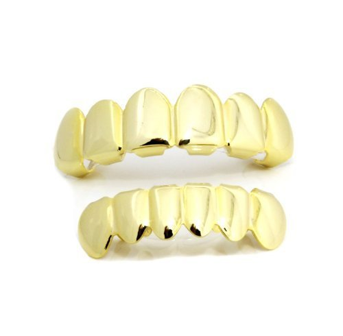 Top & bottom row hiphop grillz set