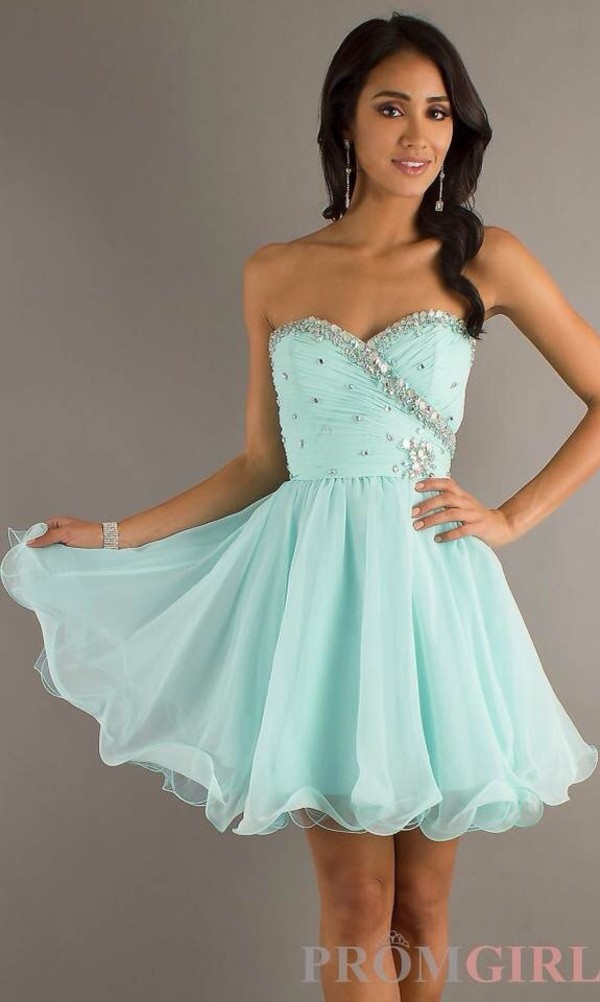 dress light blue prom dress color style dress