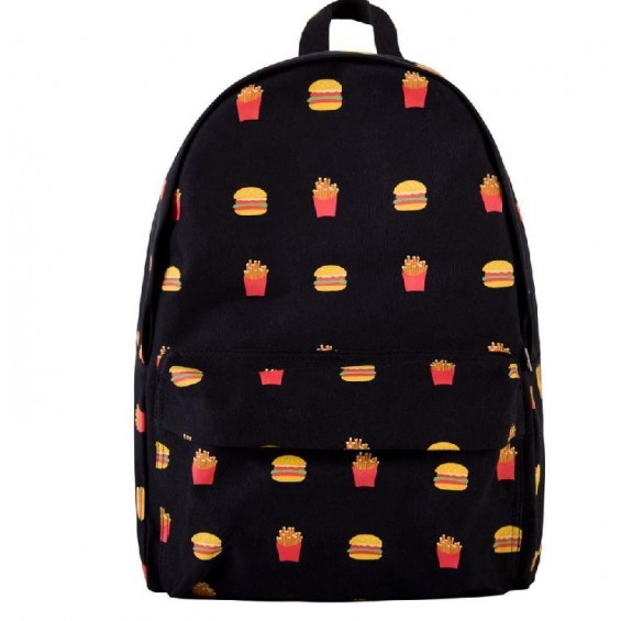BOOGZEL | Junkie Food Backpack - Black