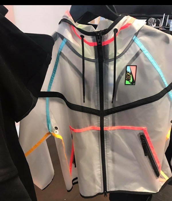 jacket windbreaker clear nike nike windbreaker clear colorful multi color transparent nike jacket coat neon clear jacket multicolor pink blue green black plastic long sleeves drawstring fall sweater nike windbreaker