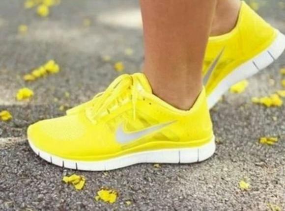 shoes nike running shoes yellow nike free run nike sneakers nike