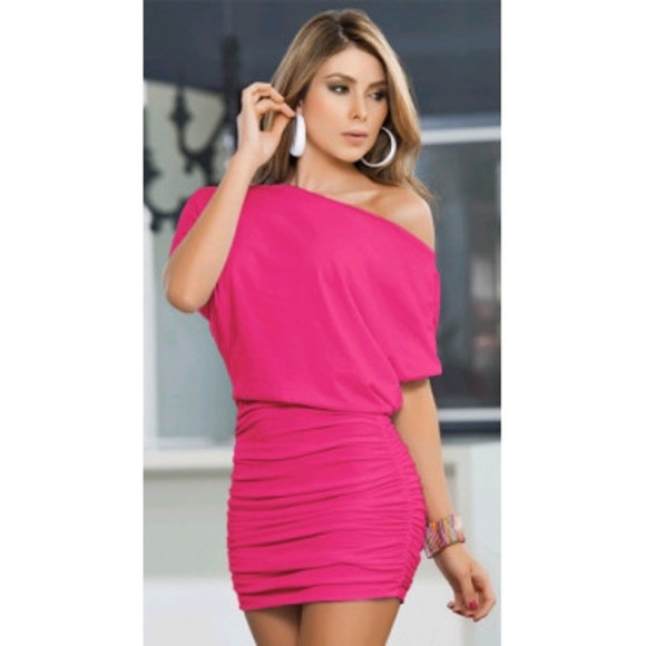 pink dress dress bodycon dress bodycon pink hot pink hot pink dress pink bodycon dress