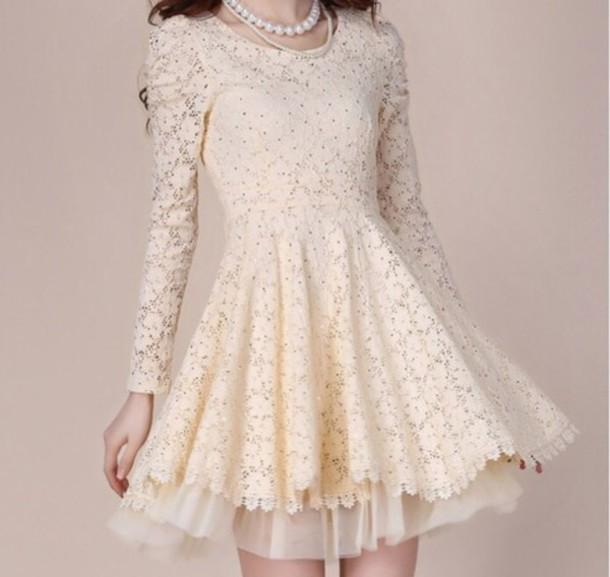 dress, cute dress, lace dress, cute, kawaii, fashion, girly, prom ...
