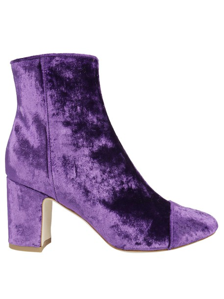 Polly Plume ankle boots purple shoes