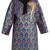 Floral-brocade lamé coat