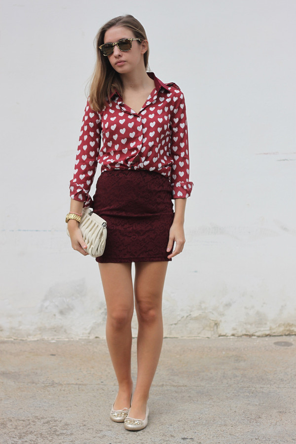 say queen shirt skirt sunglasses bag shoes