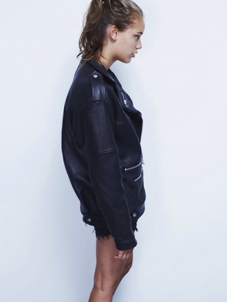 jacket cuir simili cuir blazer black black jacket find on tumblr or can we find it? tumblr girl tumblr tumblr clothes tumblr fashion
