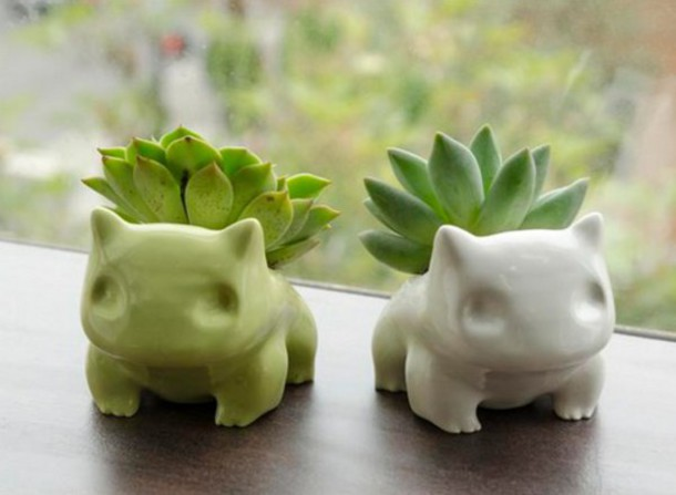 home accessory flowerpot flowers plants pokemon bisasam plantpot tumblr bulbasaur cactus home decor