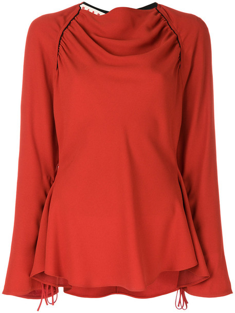 MARNI blouse women red top