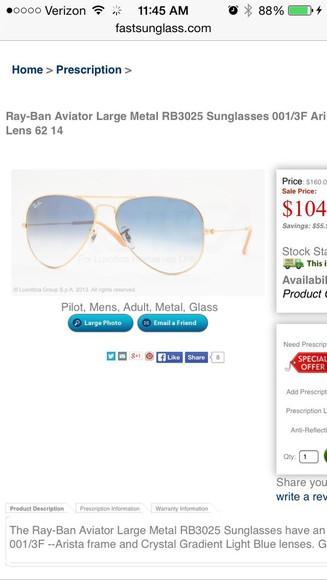 sunglasses rayban aviator sunglasses light blue