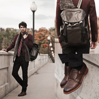bobby raffin menswear blogger tie mens shoes mens accessories leather backpack burgundy mens jacket bag holiday gift hipster wishlist mens backpack