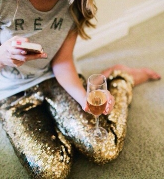 pants gold sequin pants gold pants sparkly pants