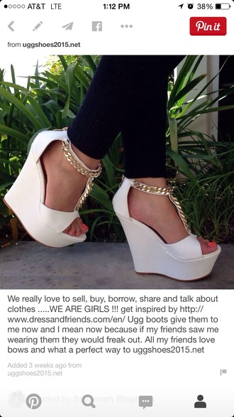 shoes chain wedges