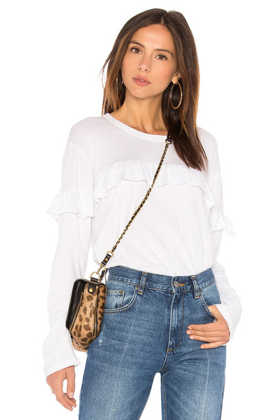 The Great ruffle white top