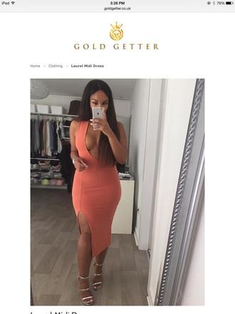 dress idc style fashion girly sexy dress lookbook slayer brows on fleek instagram orange dress cute dress maxi open back dresses