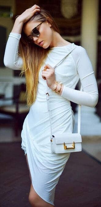 dress white dress amazing amazing dress neutral nude neutral colors white color classy urban chic
