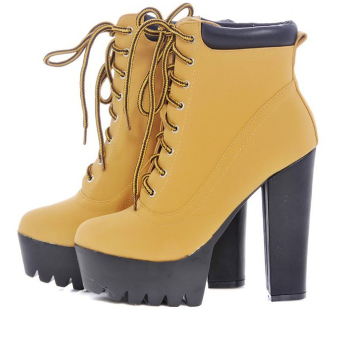 shoes high heels black heels style trendy timberland boots