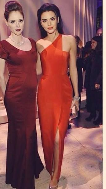 dress kendall red dress