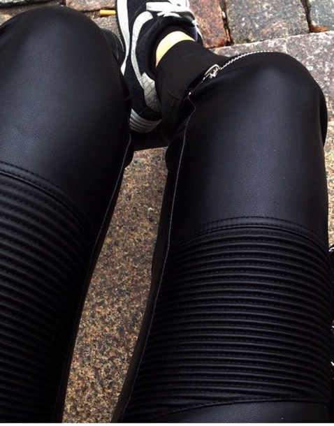 jeans leather pants