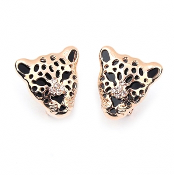 Goldene Panther Ohrringe l Juwel-Lane Modeschmuck Online Shop