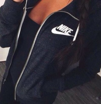 jacket nike black white
