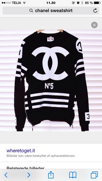 sweater black chanel cc sweater