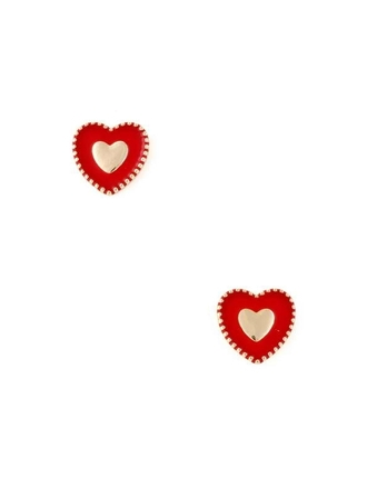heart jewels heart earrings red heart red valentine