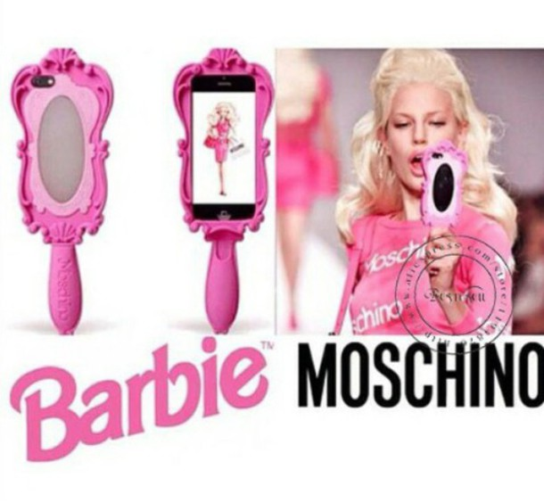 jewels phone cover mirror pink mirror moschino moschino case