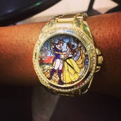 home accessory,beauty and the beast,gold watch,diamond watch,fairy tale