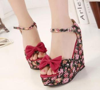 com : Buy New summer black strappy wedge heels platform sandals ...