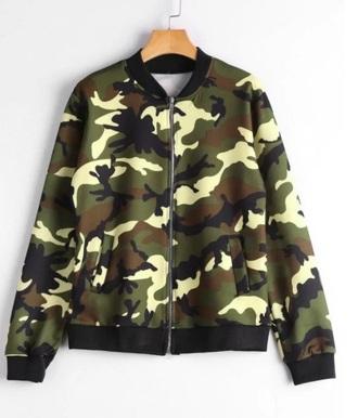 jacket girly black camouflage camo jacket bomber jacket