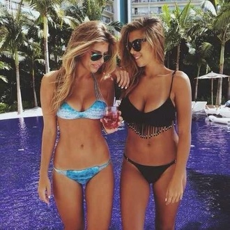swimwear bikini blue cute