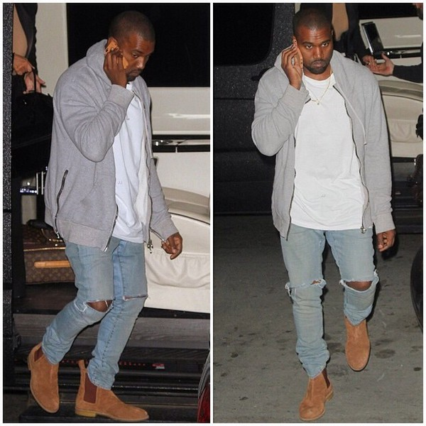 kanye west chelsea boots mens hoodie shoes