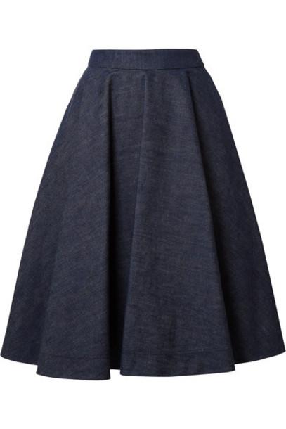 CALVIN KLEIN 205W39NYC skirt denim skirt denim dark