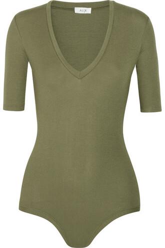 bodysuit green army green underwear