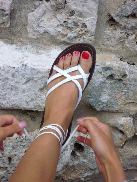 bb2f74938afe4 shoes white sandals strap sandals sandals flats shoes white white strappy  sandals strappy sandals boho white
