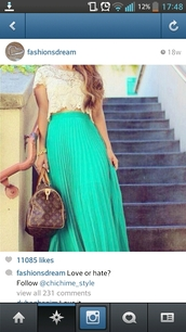 skirt,gteen,green,maxi skirt,maxi,long,shirt