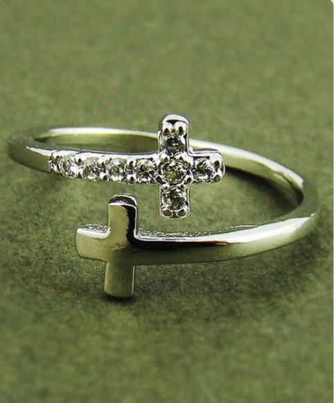 jewels double cross cross christian