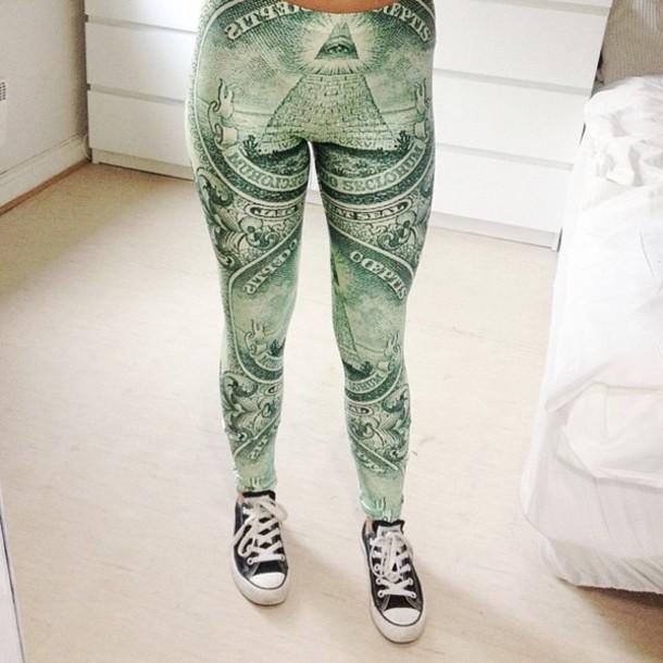 jacket leggings money green