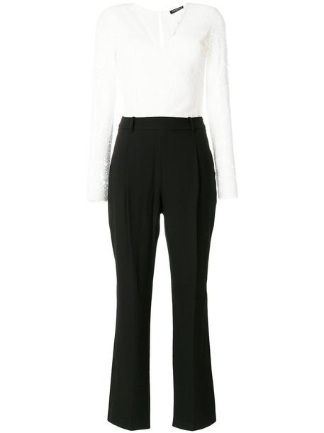 Twin-Set jumpsuit cropped jumpsuit cropped women cotton black