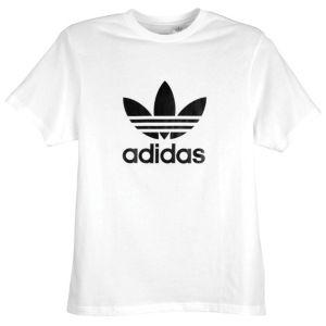 adidas Originals Trefoil S/S Logo T-Shirt - Men's - Sport Inspired - Clothing - White/Black