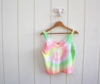 shirt crop tops tie dye