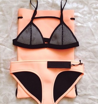swimwear swimwear orange black