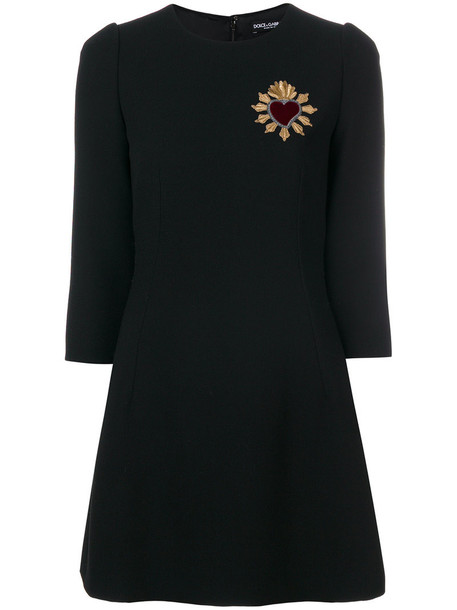 Dolce & Gabbana dress embroidered dress embroidered metallic women cotton black silk