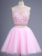 dress,prom,2 piece prom dress,ocasional dress,pink dress,stone dress,cute,cute dress,short dress,pastel pink,two piece dress set,amazing,gorgeous dress,sparkle,glitter,style,dressofgirl,girly,stylish,lovely,bridesmaid