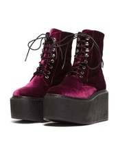 shoes,goth,velvet,burgundy,DrMartens,grunge,boots,platform shoes