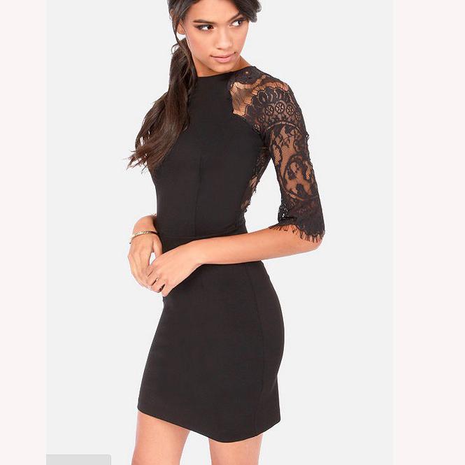 Lovely eyelash lace black bodycon dress · love, fashion struck ·