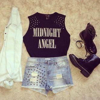 studs no sleeves midnight angel