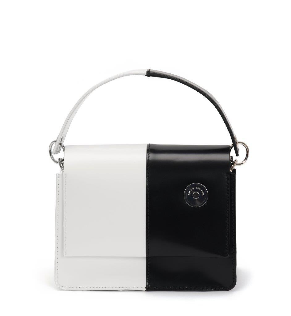 Black and White Baby Pinch Shoulder Bag