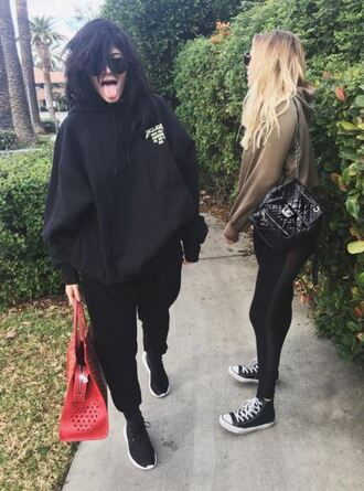 shoes sneakers oversized sweater hoodie instagram jacket kylie jenner jumper sweater